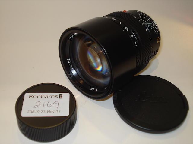 Leica Summilux-M 75mm f1.4 lens,