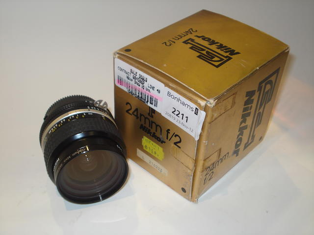 Nikkor 24mm f2 lens,