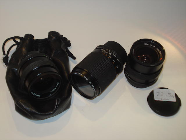 Contax SLR lenses: