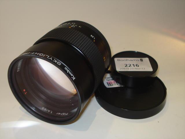 Contax SLR 85mm f1.4 Planar lens,