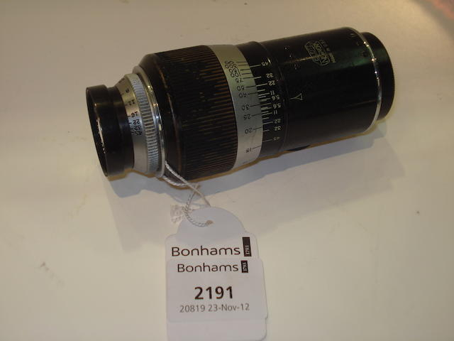 Leica 127mm f4.5 Wollensak lens, by Leitz of New York,