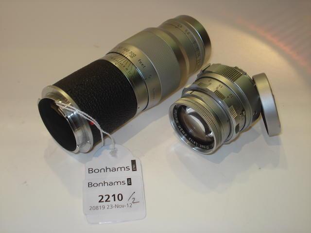 Leica Hektor 13.5cm f4.5 lens,