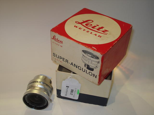 Leitz 21mm f3.4 Super Angulon,