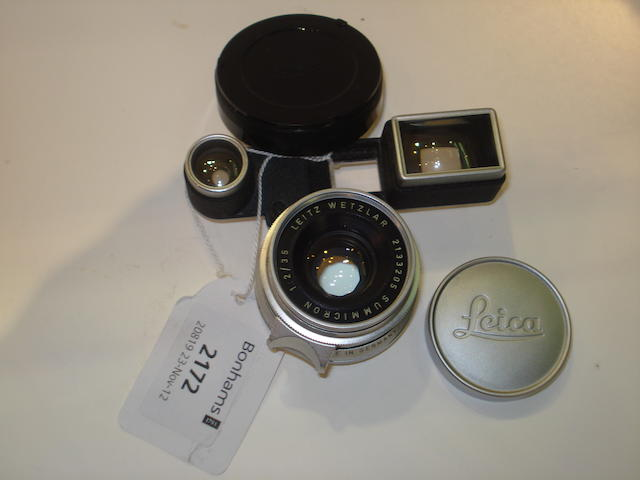 Leitz 35mm f2.8 Summaron lens,