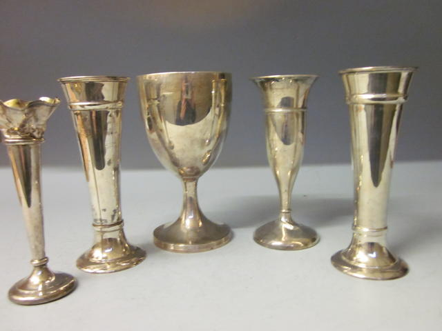 A George III silver goblet, by Henry Chawner London 1809,  (5)