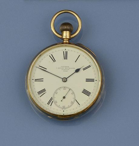 Clerke, Royal Exhange, London: An 18ct gold open face pocket watch