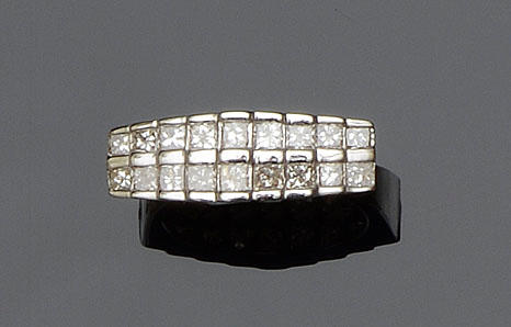 A two row diamond ring