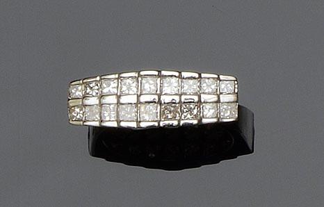 A two row diamond ring