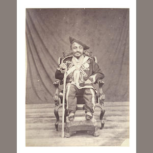 MARATHA RULER Album containing 19 portraits, regimental groups and views, [c.1880]