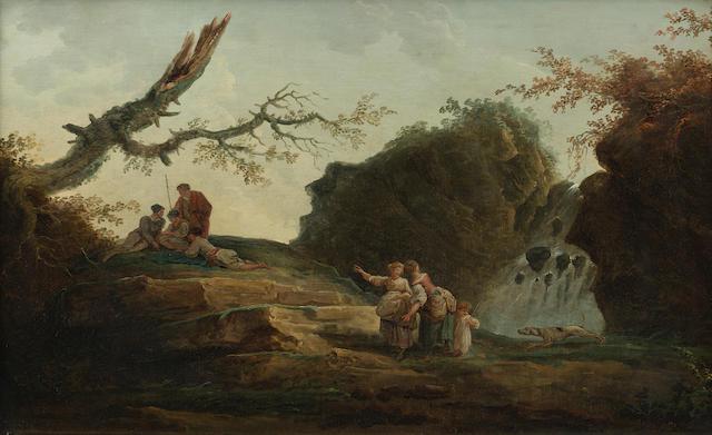 Hubert Robert (Paris 1733-1808) La Petite Cascade