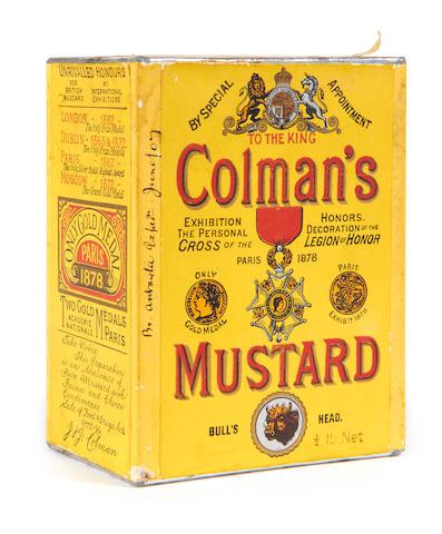 NIMROD An unopened tin of Coleman's Mustard, [1907]