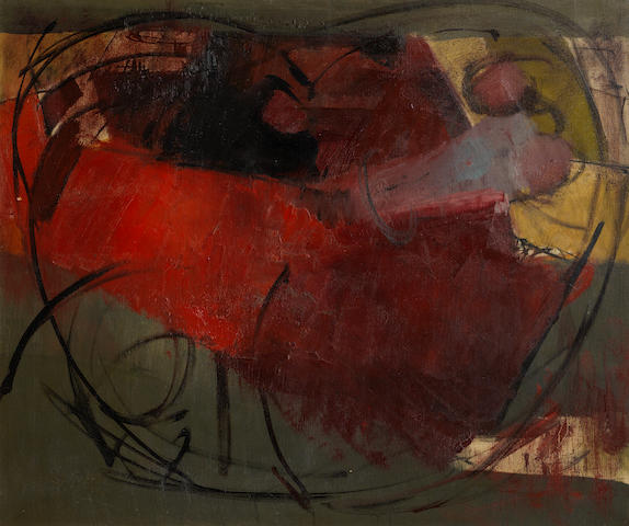 William Johnstone, OBE (British, 1897-1981) Untitled 64 x 76.8 cm.  (25 1/4 x 30 1/4 in.)