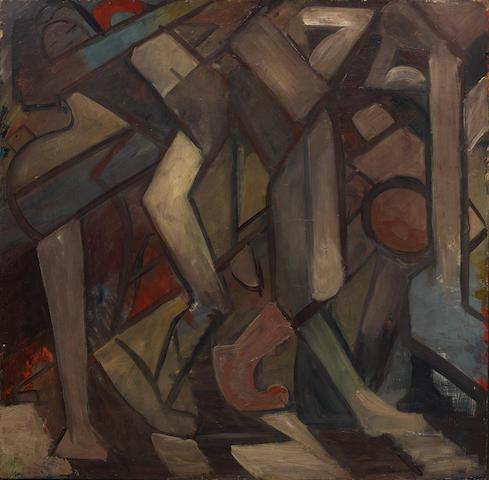 William Johnstone, OBE (British, 1897-1981) Untitled 76.5 x 76.5 cm. (30 2/8 x 30 2/8 in.)