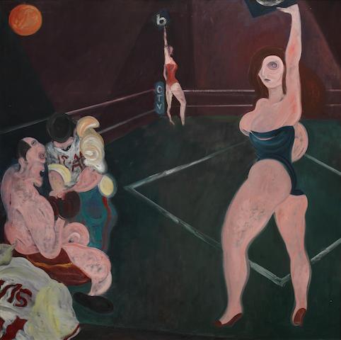 Macfedyen, Jock Boxer 101.6 x 101.6 cm. (40 x 40 in.)