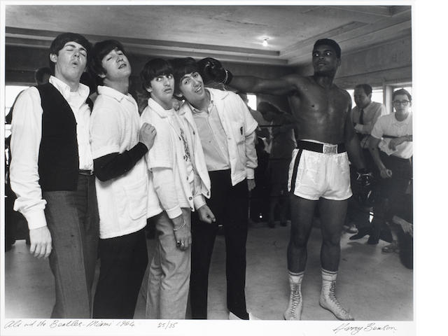 Harry Benson; Ali and the Beatles, Miami 1964,