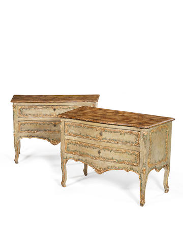 Pair of Italian commodes