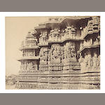 HALEBIDU NEILL (ANDREW CHARLES BRISBANE) Four details of the Northern and Southern Vimanas of the Great Temple at Halebidu, 1866 (4)