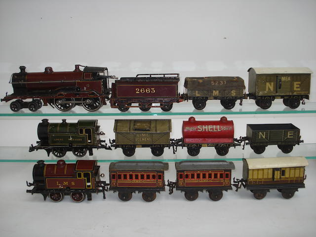Bing c/w locomotives and rolling stock lot