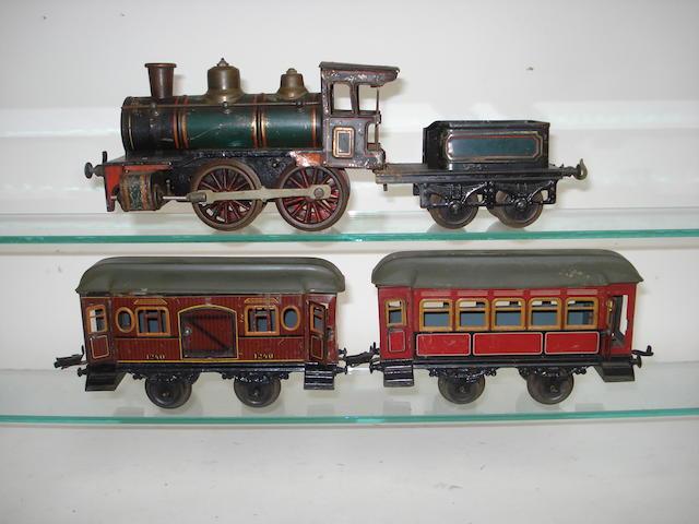 Gauge I c/w 0-4-0 locomotive and tender, possibly Carette 3