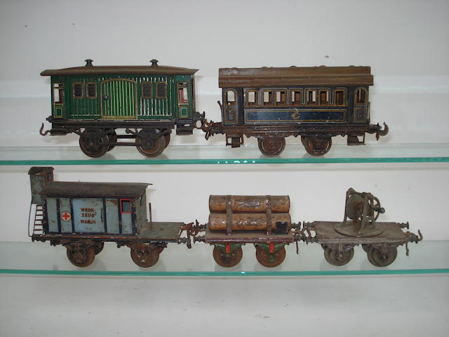 Bing gauge I Red Cross tool and crane car and other rolling stock, circa 1912 6