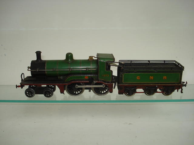 Bing for Gamages c/w 4-4-0 locomotive No.1373 and GNR tender