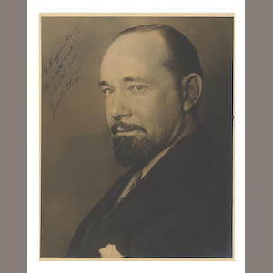 WILKINS (GEORGE HUBERT) Studio portrait by Martin Vos, INSCRIBED TO THE PHOTOGRAPHER, [1930]