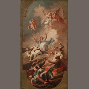 Venetian School, 18th Century The Ascension,
