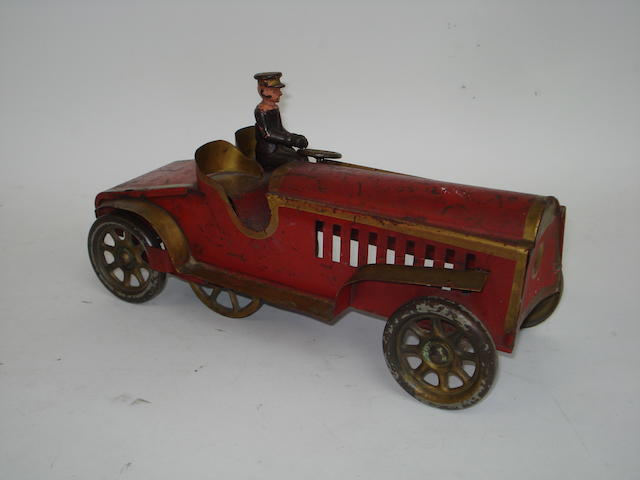 Early pressed steal and cast iron two-seater Hill Climber, American 1903