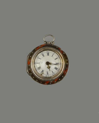 J Edmonds, London: A silver pair-cased pocket watch