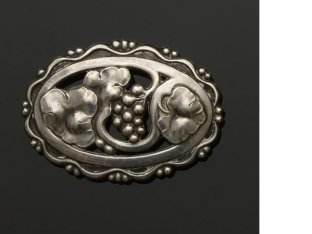 Georg Jensen: A brooch