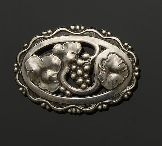 Georg Jensen: A brooch