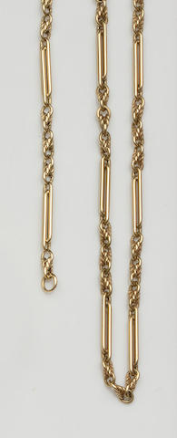 A fancy-link bracelet and necklace (2)