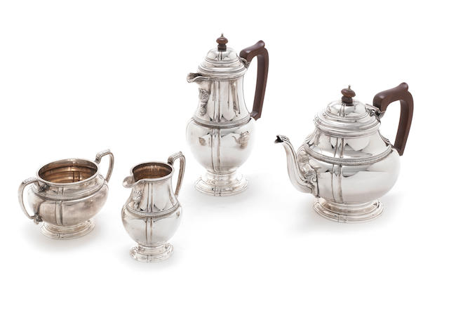 A  silver four-piece tea service by F.C. Richards, Birmingham 1931  (4)