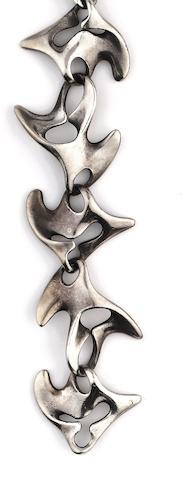 Georg Jensen: A silver bracelet, designed by Henning Koppel (2)