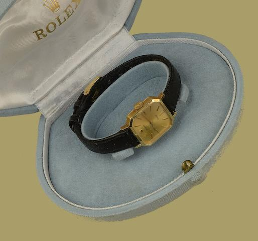 Rolex: An 'Orchid' 18ct gold lady's wristwatch