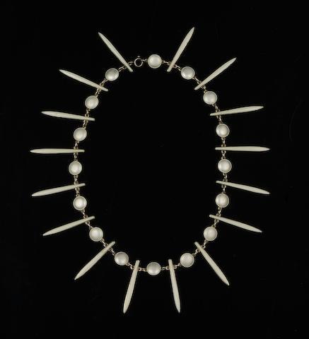 David Anderson: A silver and enamel necklace