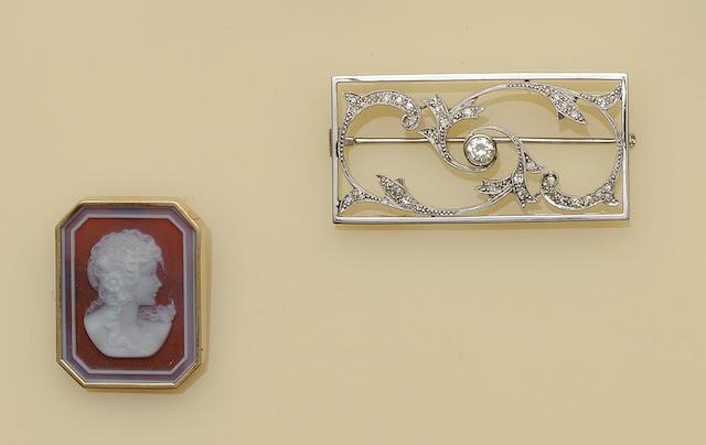 A diamond plaque brooch (2)