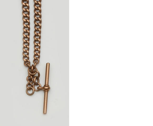 An Edwardian 9ct gold Albert chain