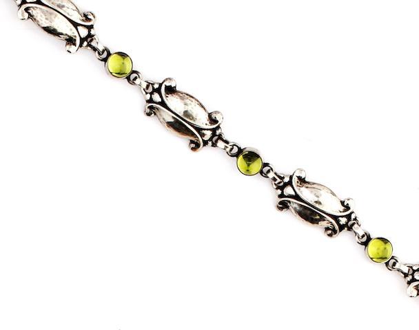 Georg Jensen: A peridot set bracelet
