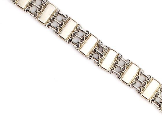 Georg Jensen: A bracelet, designed by Arno Malinowski