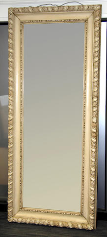 A moulded frame pier glass,