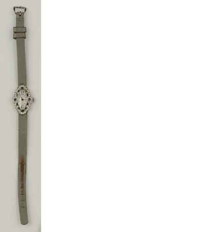 A sapphire and diamond cocktail watch