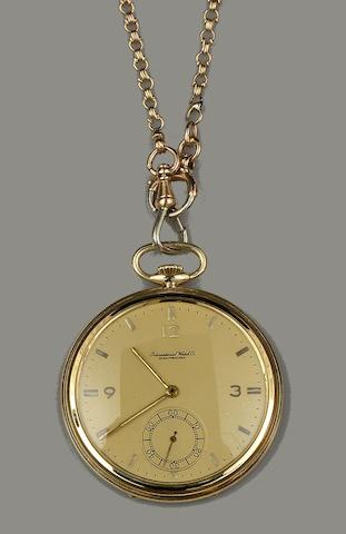 IWC: A slim pocket watch and chain(2)