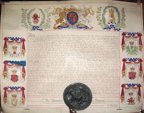 ALFRED JOSEPH LORD STOURTON (BARON SEGRAVE) A Victorian Royal Warrant
