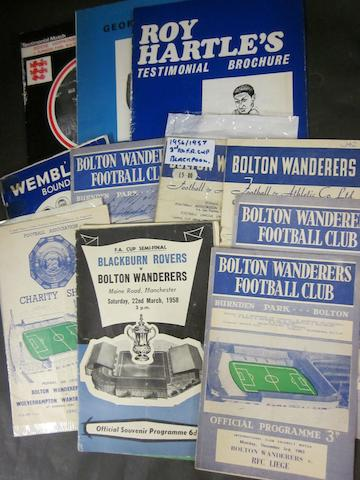 A collection of bolton programmes 1950's including finals (12)