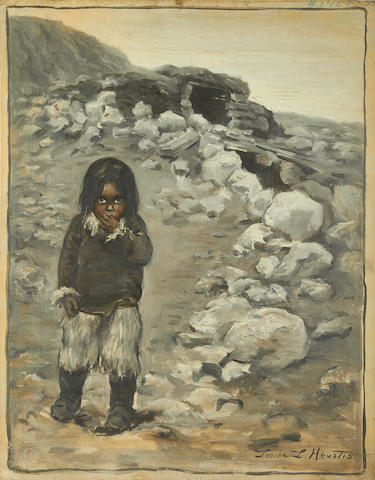 "ESKIMOS HEUSTIS (LOUISE LYONS) ""Esquimaux Child""; ""Women and Child of Arctic Highlanders""; and ""A Winter House"", [1900] (3)"