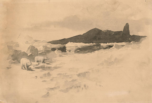 "TAYLOR (WILLIAM LADD) ""View on the Coast of Greenland - Icebergs,"""