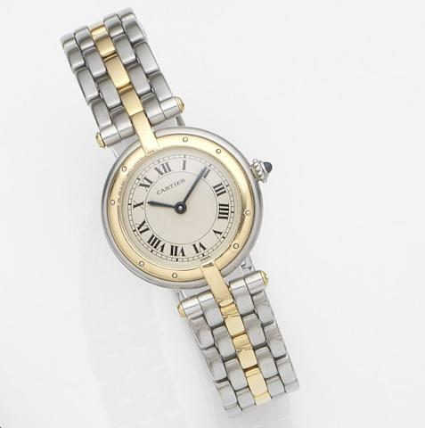 Cartier. A lady's stainless steel quartz bracelet watchVendome, Ref:16141, Case No.1057920, Circa 1990