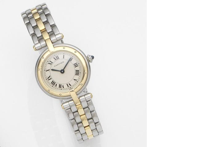 Cartier. A lady's stainless steel quartz bracelet watch Vendome, Ref:16141, Case No.1057920, Circa 1990
