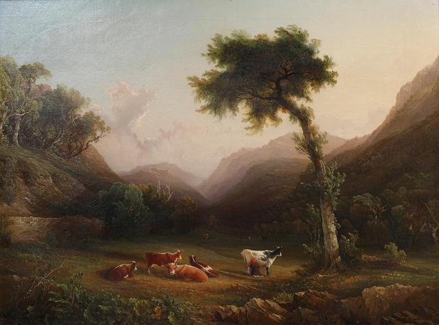 Philip Hutchins Rogers (British, 1794-1853) A Cumberland landscape